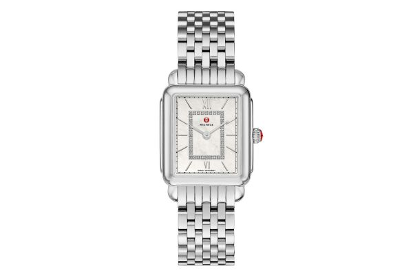 Large image of Michele Deco II Mid Stainless Steel Diamond Womens Watch - MWW06I000026