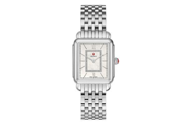 Michele Deco II Mid Stainless Steel Diamond Womens Watch - MWW06I000026