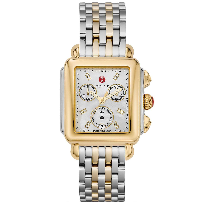 Petite diamond two tone watch #12