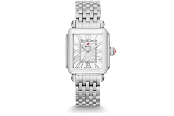 Large image of Michele Deco Madison, Diamond Dial Womens Watch - MWW06T000141