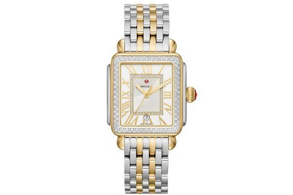 Large image of Michele Deco Madison Diamond Two-Tone, Diamond Dial Womens Watch - MWW06T000144