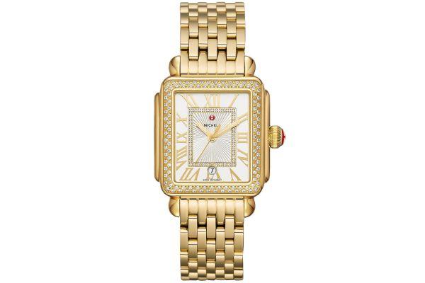 Large image of Michele Deco Madison Gold Diamond Womens Watch - MWW06T000161