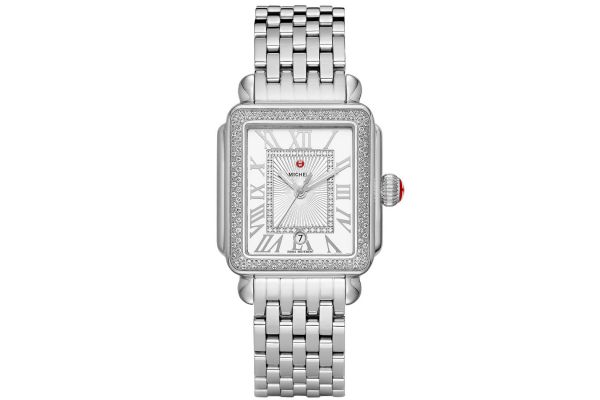 Large image of Michele Deco Madison Stainless Steel Diamond Womens Watch - MWW06T000163