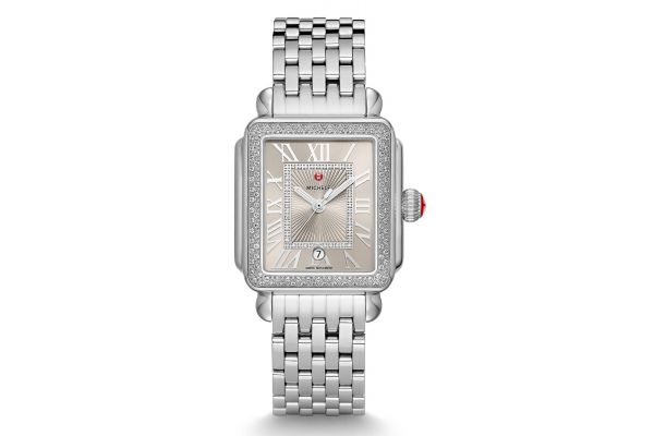 Michele Deco Madison Stainless Steel Cashmere Diamond Womens Watch - MWW06T000165