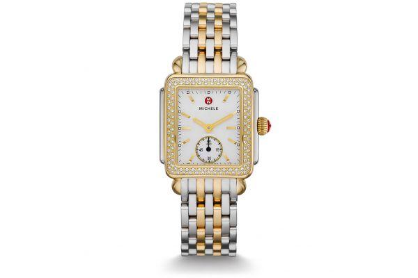 Large image of Michele Deco Mid Two Tone Diamond, Two Tone Bracelet Womens Watch - MWW06V000023