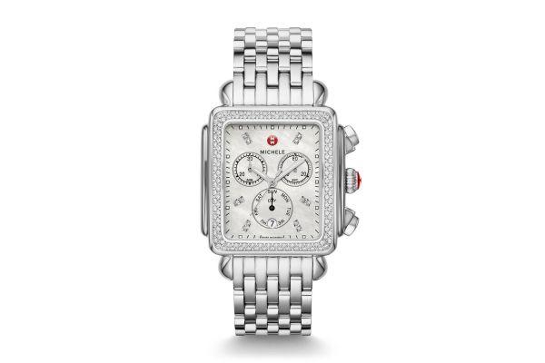 Michele Deco XL Stainless-Steel Diamond Womens Watch - MWW06Z000035