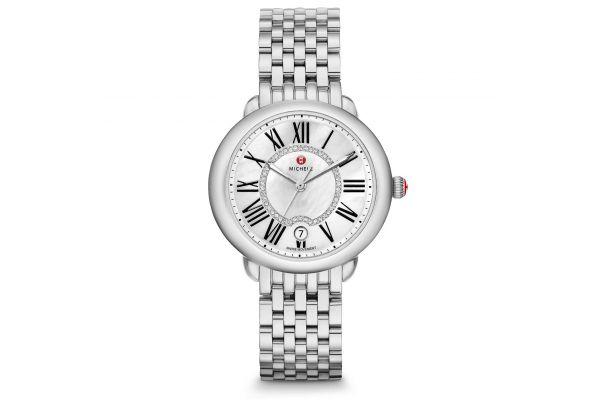 Michele Serein Mid Stainless-Steel Diamond Dial Womens Watch - MWW21B000009