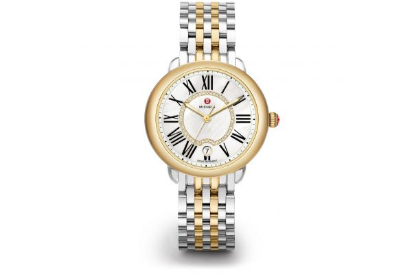 Large image of Michele Serein Mid Two-Tone Diamond Dial Womens Watch - MWW21B000015