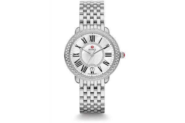 Michele Serein Mid Stainless Steel Diamond Womens Watch - MWW21B000030