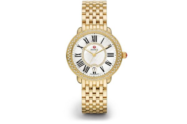 Large image of Michele Serein Mid Gold Diamond Womens Watch - MWW21B000031