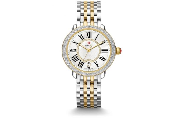 Large image of Michele Serein Mid Two-Tone Diamond Womens Watch - MWW21B000032