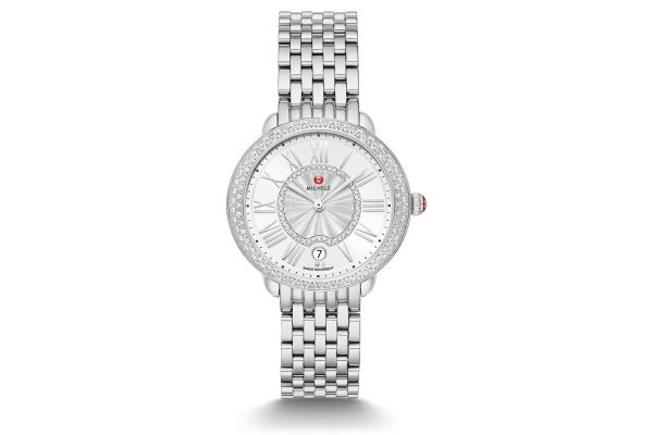 Large image of Michele Serein Mid Stainless-Steel Diamond Womens Watch - MWW21B000143