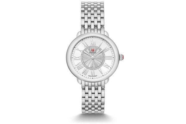 Michele Serein Mid Stainless Steel Diamond Womens Watch - MWW21B000147