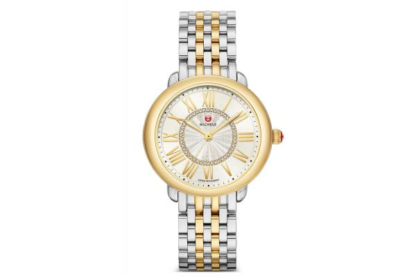 Michele Serein Mid Two-Tone 18k Diamond Dial Womens Watch - MWW21B000148