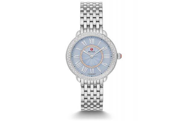 Michele Serein Mid Stainless Diamond Dial Womens Watch - MWW21B000149