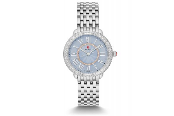 Large image of Michele Serein Mid Stainless Diamond Dial Womens Watch - MWW21B000149