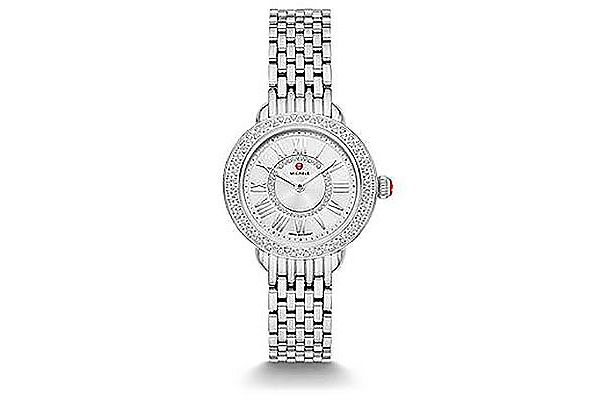 Michele Serein Petite Stainless Steel Diamond Womens Watch - MWW21E000025