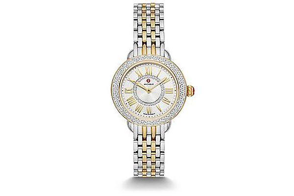 Michele Serein Petite Two-Tone Diamond Womens Watch - MWW21E000026