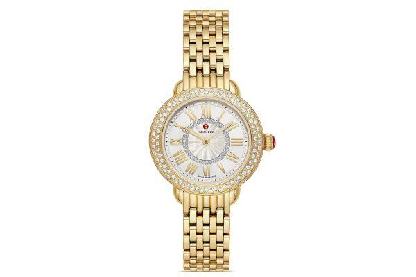 Large image of Michele Serein Petite 18k Gold Diamond Womens Watch - MWW21E000027