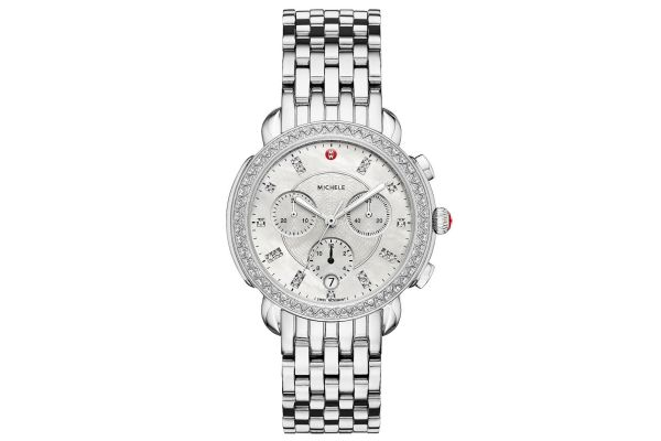 Michele Sidney Diamond, Diamond Dial Womens Watch - MWW30A000001