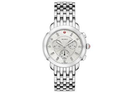 Michele Sidney Stainless-Steel Diamond Dial Womens Watch - MWW30A000015