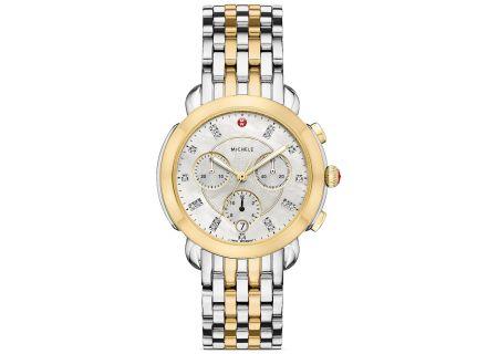Michele Sidney Two-Tone Diamond Dial Womens Watch - MWW30A000022