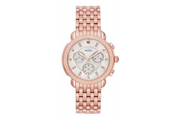 Michele Sidney Pink Gold Diamond Womens Watch - MWW30A000033