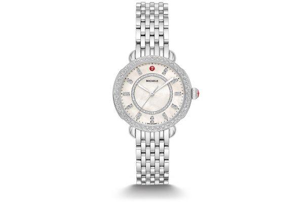 Michele Sidney Classic Stainless Steel Diamond Womens Watch - MWW30B000001