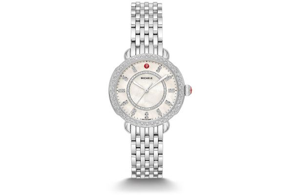 Large image of Michele Sidney Classic Stainless Steel Diamond Womens Watch - MWW30B000001