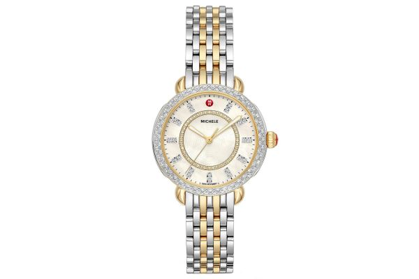 Michele Sidney Classic Two-Tone Diamond Womens Watch - MWW30B000002