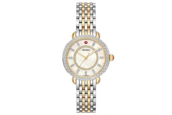 Large image of Michele Sidney Classic Two-Tone Diamond Womens Watch - MWW30B000002