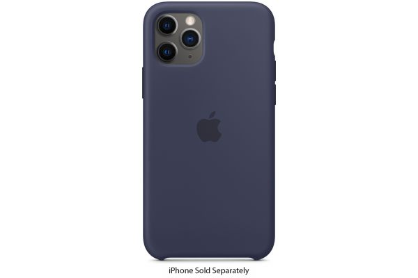 Large image of Apple iPhone 11 Pro Midnight Blue Silicone Case - MWYJ2ZM/A