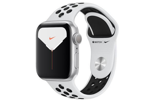 Apple Watch Nike Series 5 GPS 40mm Silver Aluminum Case With Pure Platinum/Black Nike Sport Band - MX3R2LL/A