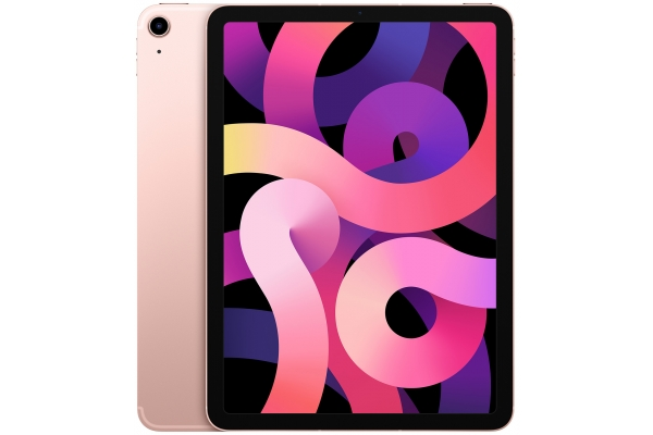 Large image of Apple iPad Air 64GB Wi-Fi + Cellular Rose Gold (2020) - MYJ02LL/A