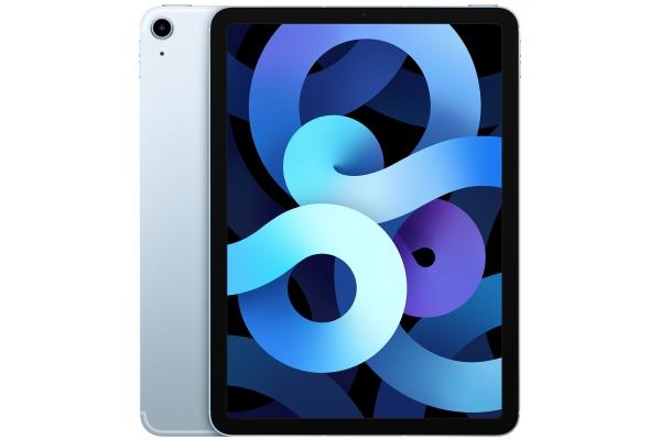 Large image of Apple iPad Air 64GB Wi-Fi + Cellular Sky Blue (2020) - MYJ12LL/A