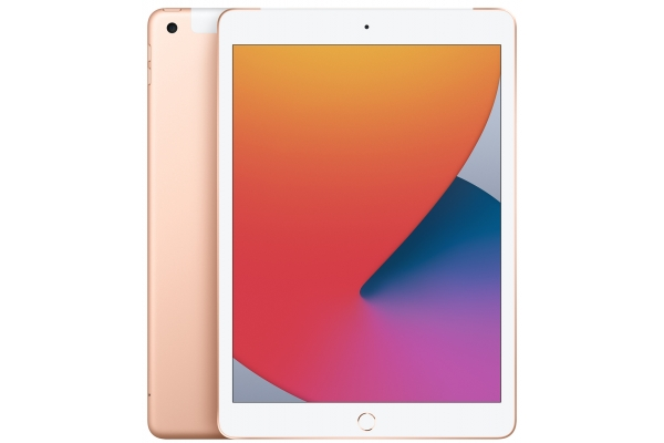 Large image of Apple iPad 10.2-Inch 32GB Wi-Fi + Cellular Gold (2020) - MYN62LL/A