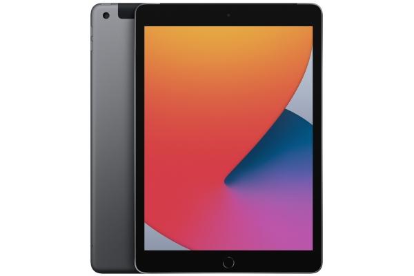 Large image of Apple iPad 10.2-Inch  128GB Wi-Fi + Cellular Space Gray (2020) - MYN72LL/A
