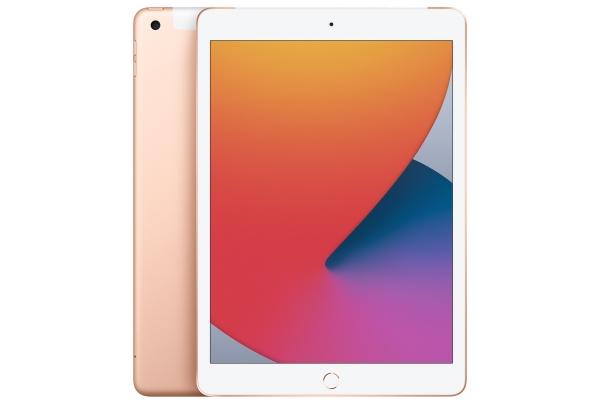 Large image of Apple iPad 10.2-Inch 128GB Wi-Fi + Cellular Gold (2020) - MYN92LL/A