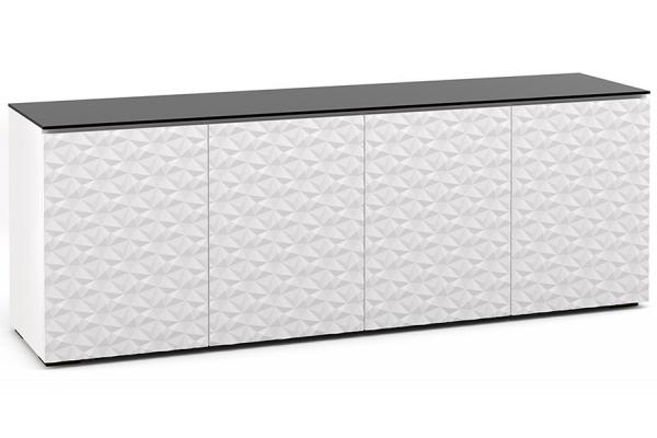Large image of Salamander Designs Chameleon Collection Milan 347 White w/ Black AV Cabinet - C/ML347/WH/BK
