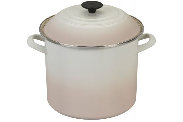 Large image of Le Creuset Enamel On Steel 10-Quart Meringue Stockpot With Lid - N5100-24716