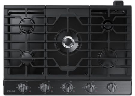 "Samsung 30"" Black Stainless Steel Gas Cooktop - NA30K6550TG"