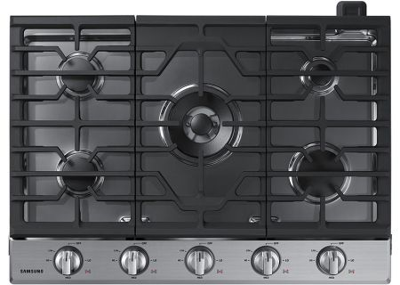 """Samsung 30"""" Stainless Steel Gas Cooktop - NA30K6550TS"""