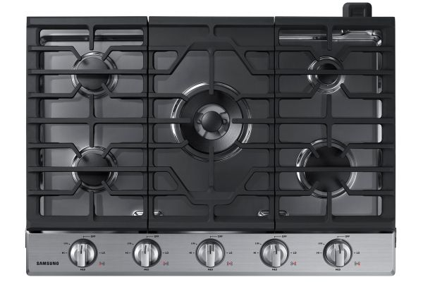 """Large image of Samsung 30"""" Stainless Steel Gas Cooktop - NA30N6555TS/AA"""
