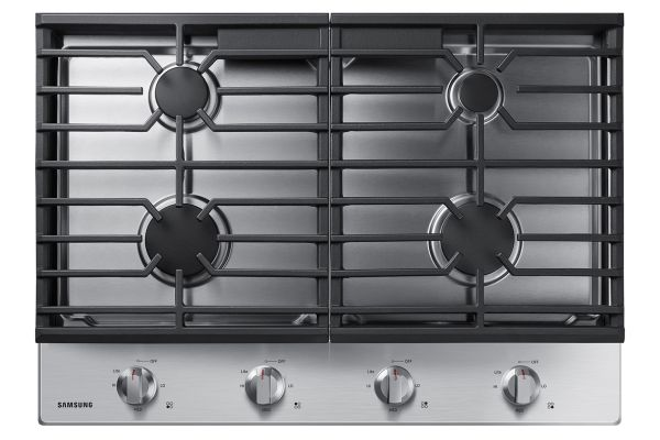 """Large image of Samsung 30"""" Stainless Steel Gas Cooktop - NA30R5310FS/AA"""