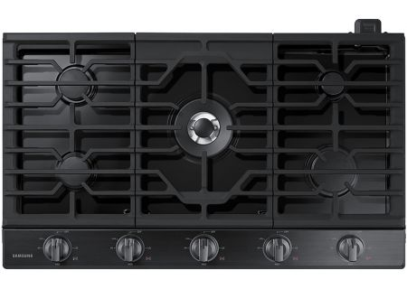 """Samsung 36"""" Black Stainless Steel Gas Cooktop - NA36K6550TG"""