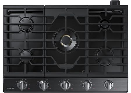 """Samsung 36"""" Black Stainless Steel Gas Cooktop - NA36K7750TG"""