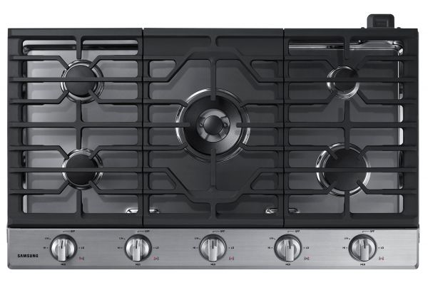 "Samsung 36"" Stainless Steel Gas Cooktop - NA36N6555TS"