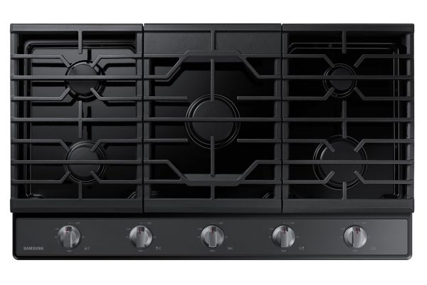 "Samsung 36"" Fingerprint Resistant Black Stainless Steel Gas Cooktop - NA36R5310FG"