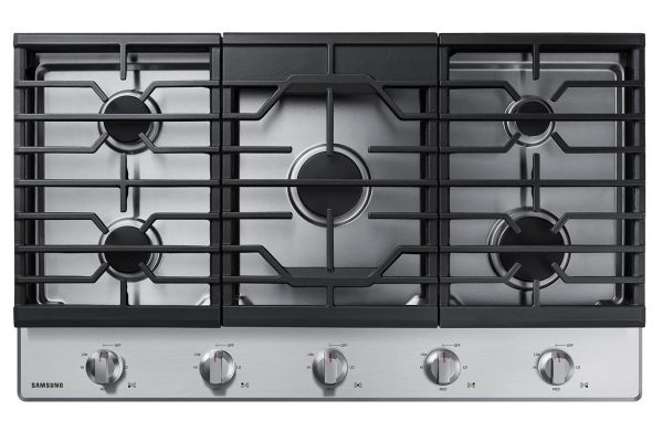 """Samsung 36"""" Stainless Steel Gas Cooktop - NA36R5310FS"""