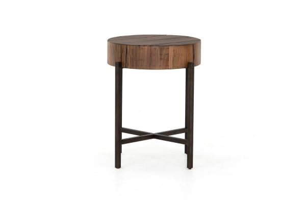 Large image of Four Hands Bowery Collection Tinsley Natural Brown End Table - NBWY-101B